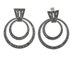 3 Amazing Reasons to Buy Large Hoop Style Marcasite Earrings 03