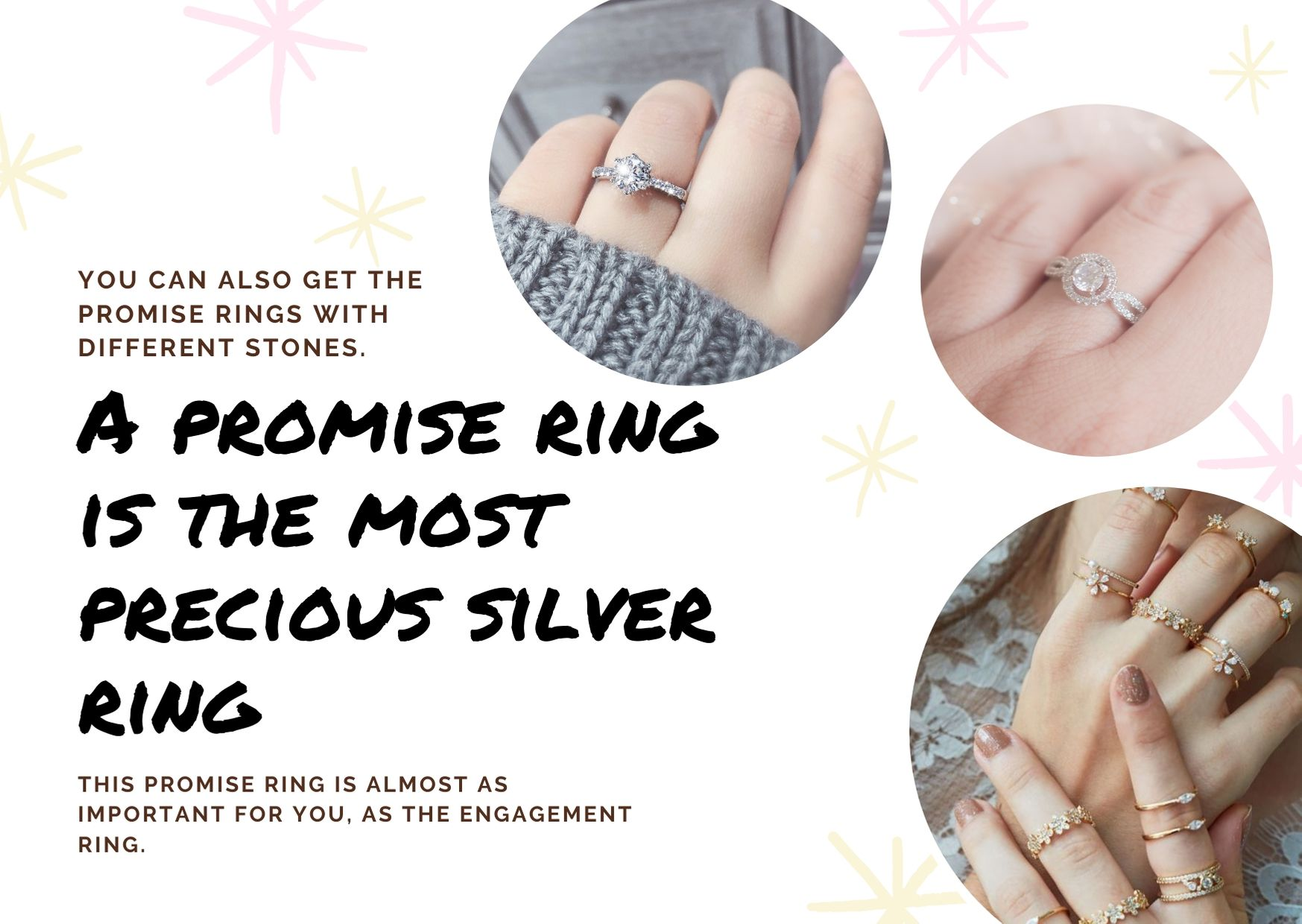 A promise ring is the most precious silver ring